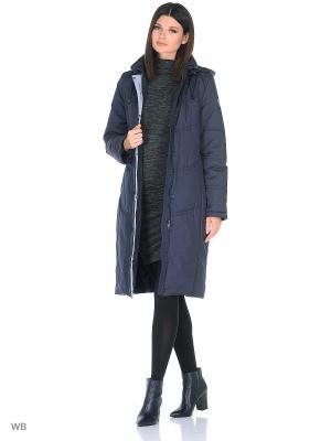 Пальто JOHANNA Maritta. Цвет: синий