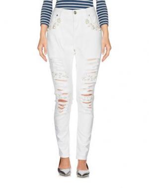 Джинсовые брюки EUREKA. Цвет: белый