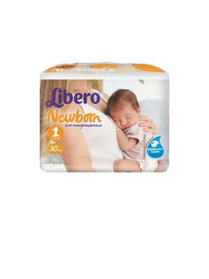 Libero Подгузники детские Ньюборн ньюб 2-5кг 30шт упаковка маленькая. Цвет: белый