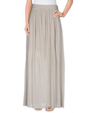 Длинная юбка PUROTATTO. Цвет: светло-серый