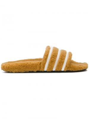 Originals Adilette stripe slides Adidas. Цвет: жёлтый и оранжевый