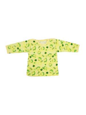 Кофточка кнопки на плечах футер КиСса. Цвет: салатовый, зеленый