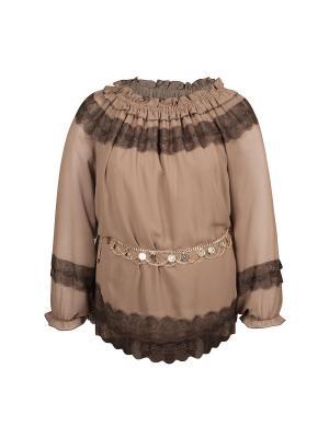 Блузка KR. Цвет: светло-коричневый