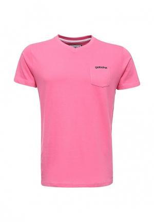 Футболка Gotcha. Цвет: розовый