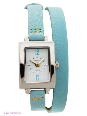 Часы TOKYObay. Цвет: серебристый, голубой