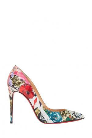 Кожаные туфли Pigalle Follies 100 Christian Louboutin. Цвет: multicolor