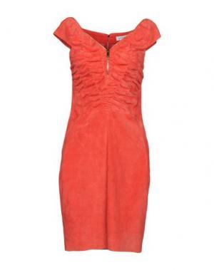 Короткое платье JITROIS. Цвет: красный