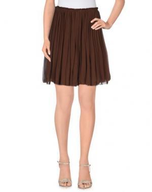 Юбка до колена KRISTINA TI. Цвет: темно-коричневый
