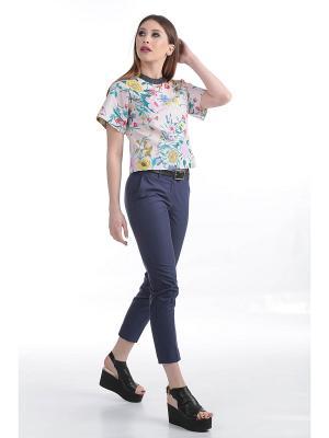 Блузка ЭНСО. Цвет: зеленый, бежевый, розовый