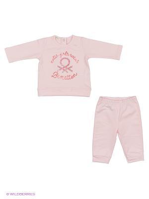 Комплект одежды United Colors of Benetton. Цвет: бледно-розовый