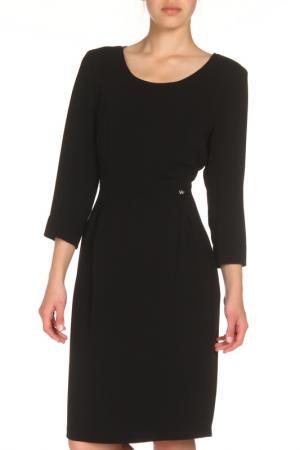 Приталенное платье с застежкой на поясе Tuzzi. Цвет: черный