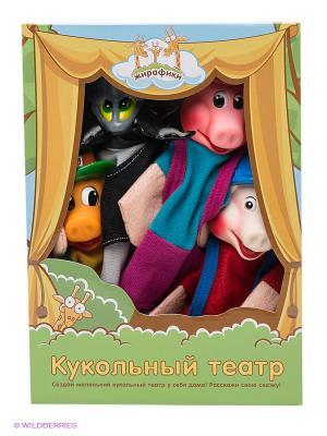 Кукольный театр Три поросенка Жирафики. Цвет: серый, розовый