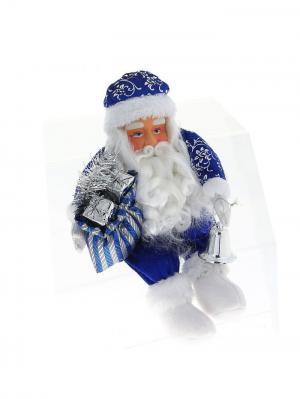 Дед Мороз в синей шубке, 32см. А М Дизайн. Цвет: сиреневый