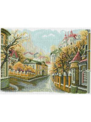Рисунок на канве Московские улочки. Замоскворечье Матренин Посад. Цвет: коричневый
