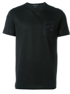 Декорированная футболка Alexander McQueen. Цвет: чёрный