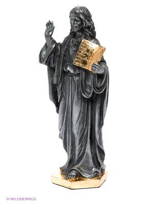 Статуэтка Иисус с Ветхим Заветом Veronese. Цвет: серый, золотистый