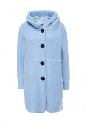 Пальто Aurora Firenze. Цвет: голубой