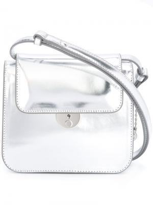 Структурированная сумка на плечо Maison Margiela. Цвет: серый