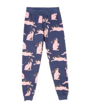 Повседневные брюки MINI RODINI. Цвет: темно-синий