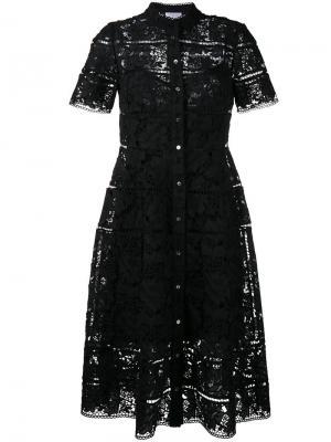 Кружевное платье Gossamer Zimmermann. Цвет: чёрный