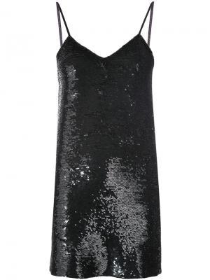 Low back sequinned dress Ashish. Цвет: чёрный