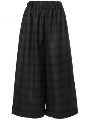 Широкие брюки с принтом тартан Daniela Gregis. Цвет: серый
