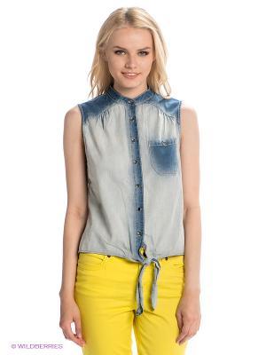 Рубашка H.I.S. Цвет: синий, голубой