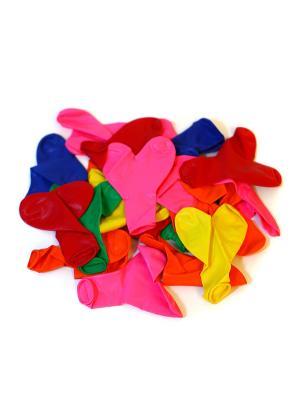 Шары воздушные Сердце 12, 25 шт, цветные в пакете KONONO. Цвет: красный