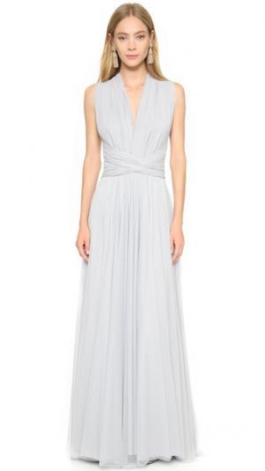 Вечернее платье из тюля Twobirds. Цвет: клементин