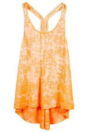 Майка Orby. Цвет: оранжевый неон