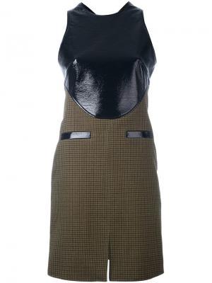 Твидовое платье с контрастной панелью Courrèges. Цвет: чёрный