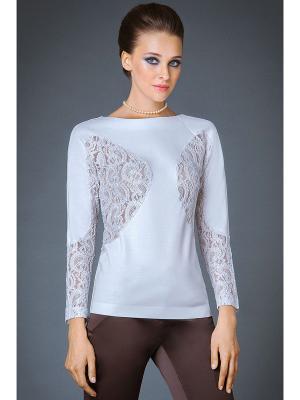 Блузка Арт-Деко. Цвет: белый