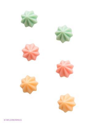 Серьги Funky Fish. Цвет: зеленый, оранжевый, розовый