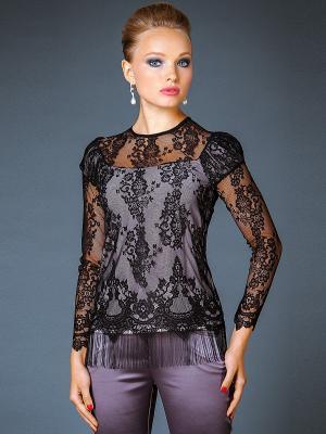 Блузка Арт-Деко. Цвет: черный, сиреневый