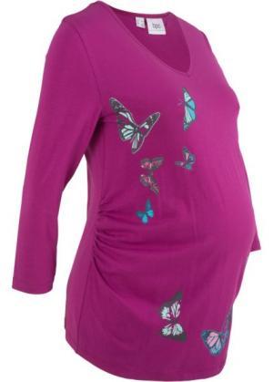 Футболка для беременных (фиолетовая орхидея) bonprix. Цвет: фиолетовая орхидея