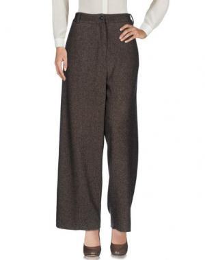 Повседневные брюки DANIELA PANCHERI. Цвет: темно-коричневый