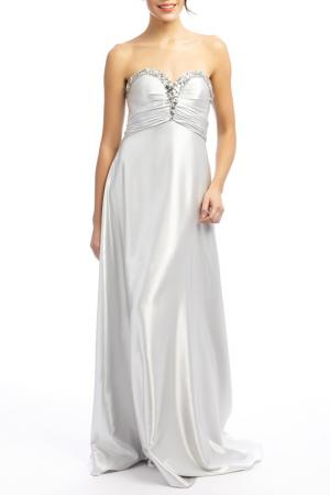 Платье YASMIN. Цвет: серебряный