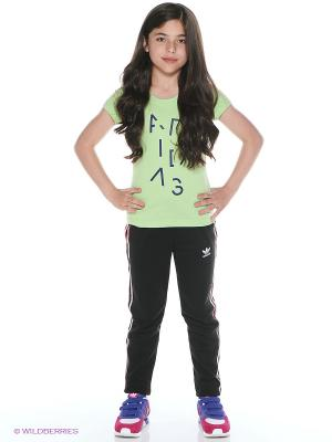 Футболка YG W B LING TEE Adidas. Цвет: зеленый