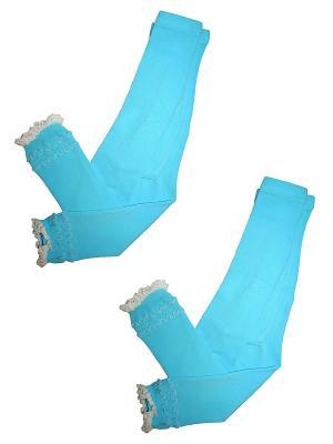 Леггинсы 2 пары Master Socks. Цвет: голубой