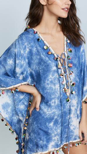 Tie Dye Modal Lace Up Tunic Bindya