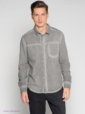 Рубашка Calvin Klein. Цвет: серый