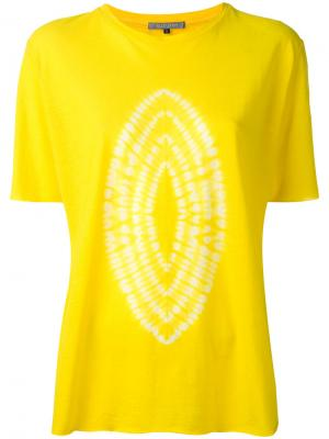 Футболка Karamatsu Suzusan. Цвет: жёлтый и оранжевый
