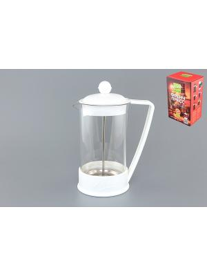 Чайник с поршнем Viva - LaCafe White Elan Gallery. Цвет: белый, прозрачный