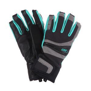 Перчатки сноубордические женские  Gem Atlantis Pow. Цвет: черный,серый
