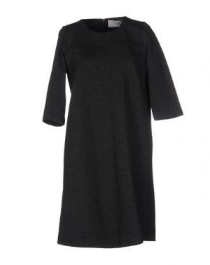 Короткое платье VINTAGE 55. Цвет: стальной серый