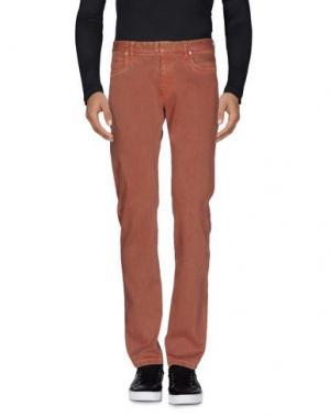 Джинсовые брюки MAISON MARGIELA 10. Цвет: ржаво-коричневый
