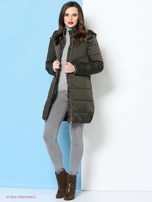 Пальто Trussardi. Цвет: хаки