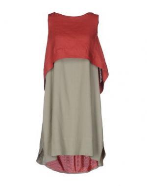 Короткое платье OBLIQUE CREATIONS. Цвет: кирпично-красный