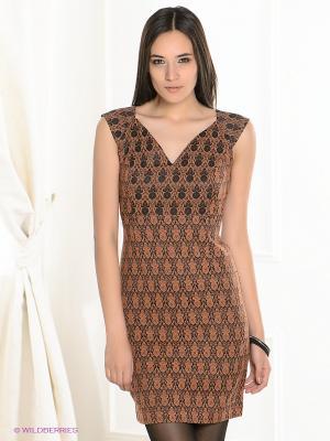 Платье MARY MEA. Цвет: терракотовый