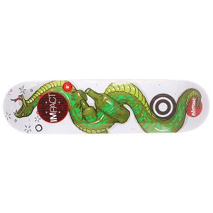 Дека для скейтборда  S5 Willow Snakes Double Impact 31.6 x 8.0 (20.3 см) Almost. Цвет: белый,зеленый